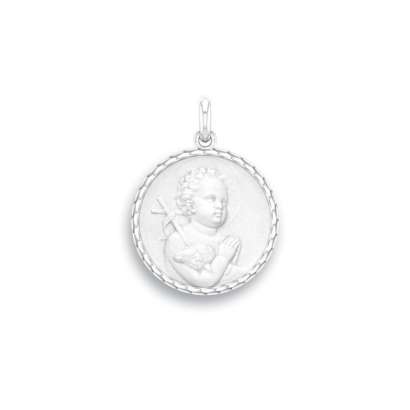Médaille Baptême Naissance Argent , Saint Jean
