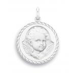 medaille bapteme naissance argent 17 mm ange espiegle diveene joaillerie
