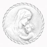 medaille bapteme naissance argent 17 mm maternite diveene joaillerie