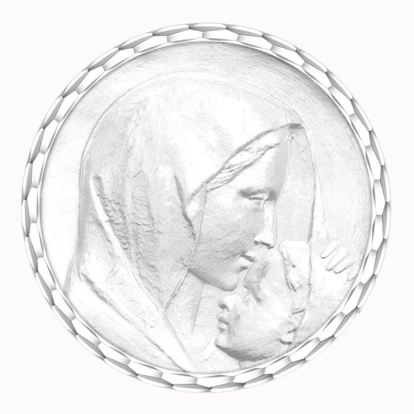 medaille bapteme naissance argent 17 mm le baiser diveene joaillerie