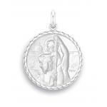 medaille bapteme naissance argent 17 mm saint christophe diveene joaillerie