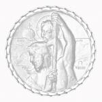 medaille bapteme naissance or blanc 17 mm saint Christophe diveene joaillerie