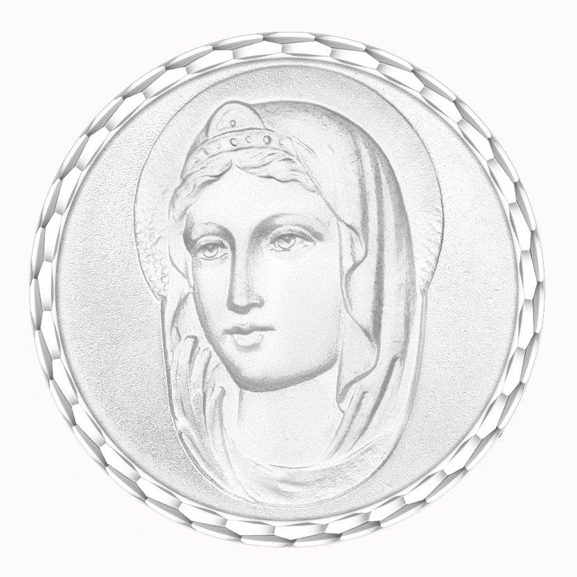 medaille bapteme naissance argent 17 mm sainte diveene joaillerie