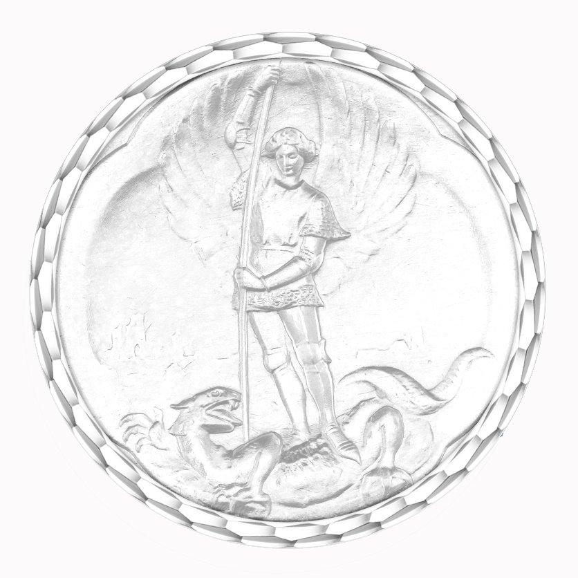 medaille bapteme naissance argent 17 mm saint michel diveene joaillerie