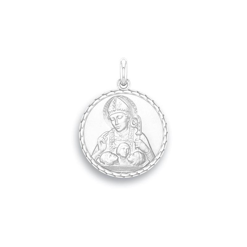 Médaille Baptême Naissance Argent , Saint Nicolas