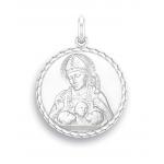 medaille bapteme naissance or blanc 17 mm saint nicolas diveene joaillerie