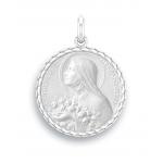 medaille bapteme naissance argent 17 mm sainte therese diveene joaillerie