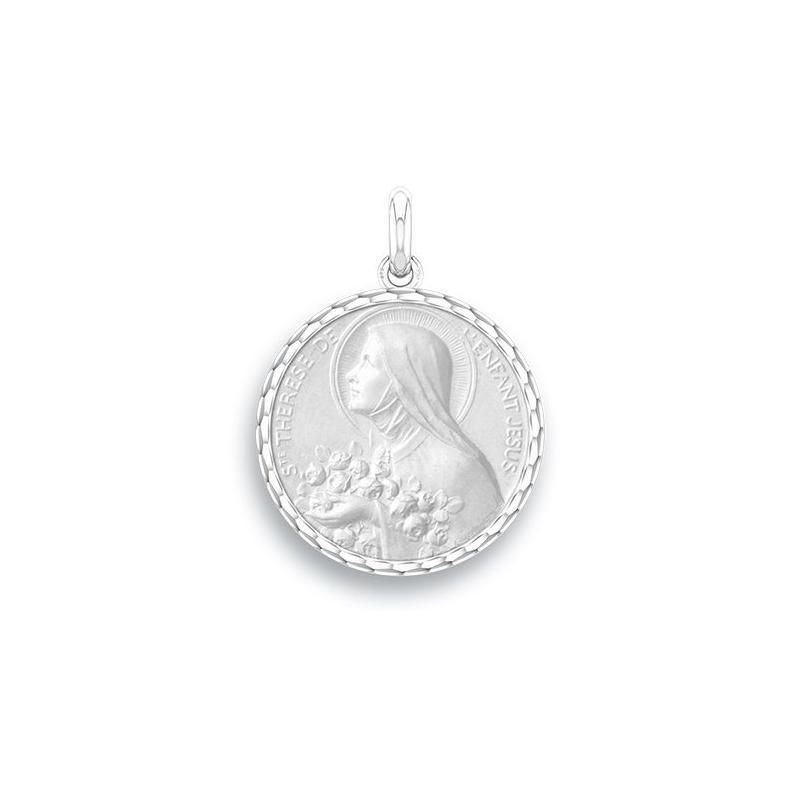 Médaille Baptême Naissance Argent , Sainte Thérèse