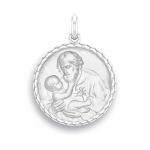 medaille bapteme naissance or blanc 17 mm saint joseph diveene joaillerie