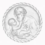 medaille bapteme naissance argent 17 mm saint joseph diveene joaillerie