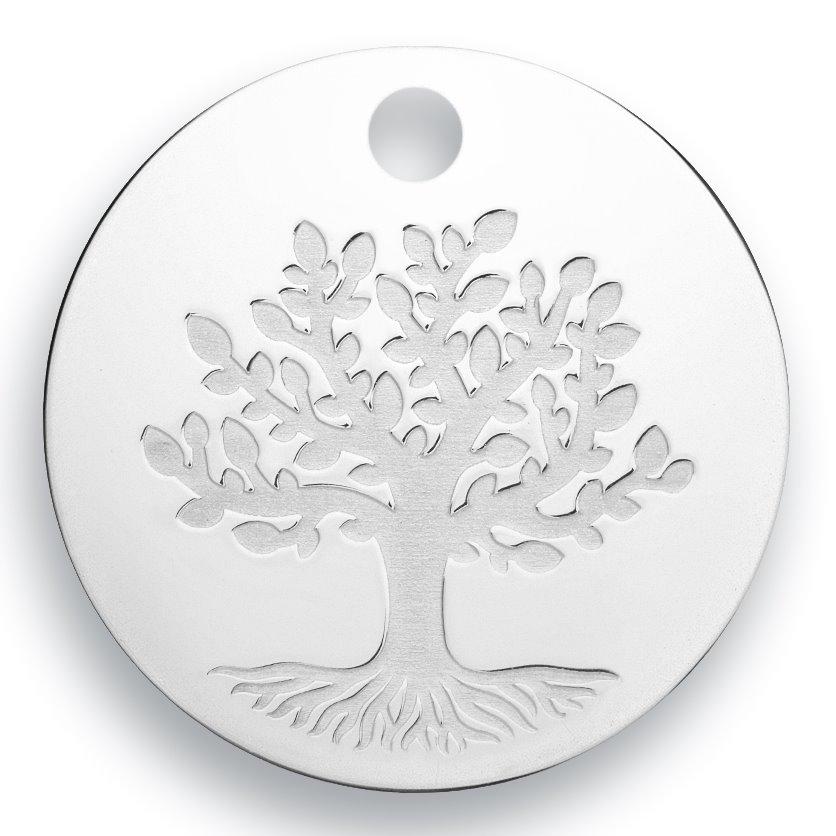 medaille bapteme naissance or blanc 17 mm arbre de la vie diveene joaillerie