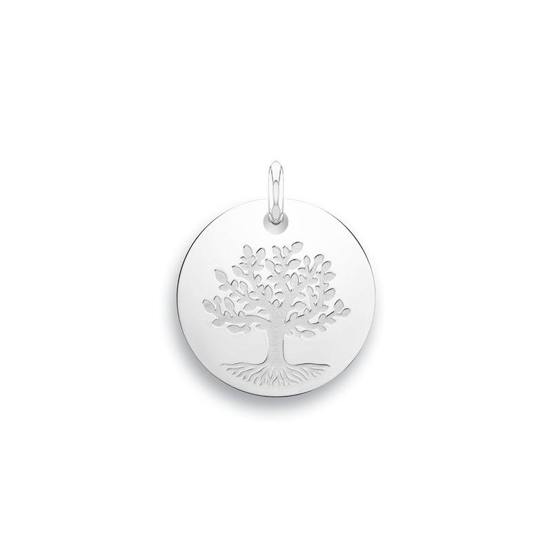 Médaille Baptême Naissance Or blanc , Arbre de la vie