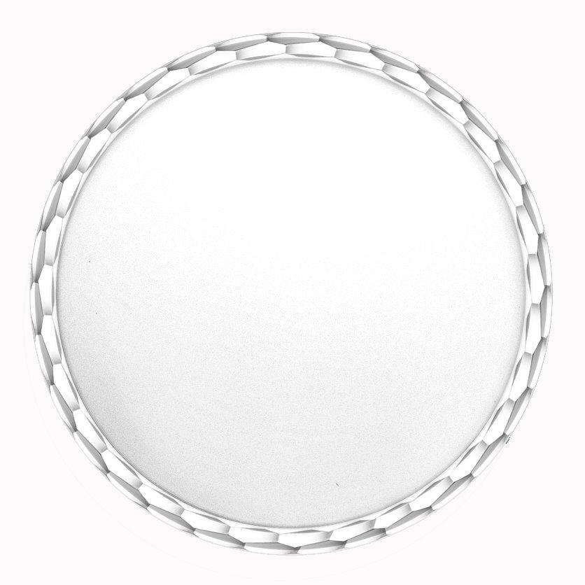 medaille bapteme naissance or blanc 17 mm disque à graver diveene joaillerie