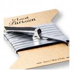 bracelet multi tours cuir et plaque argent le lacet parisien valentine diveene joaillerie bracelet argent