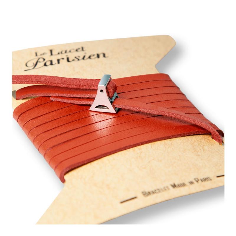Bracelet Multi Tours Femme en Cuir Rouge , Valentine