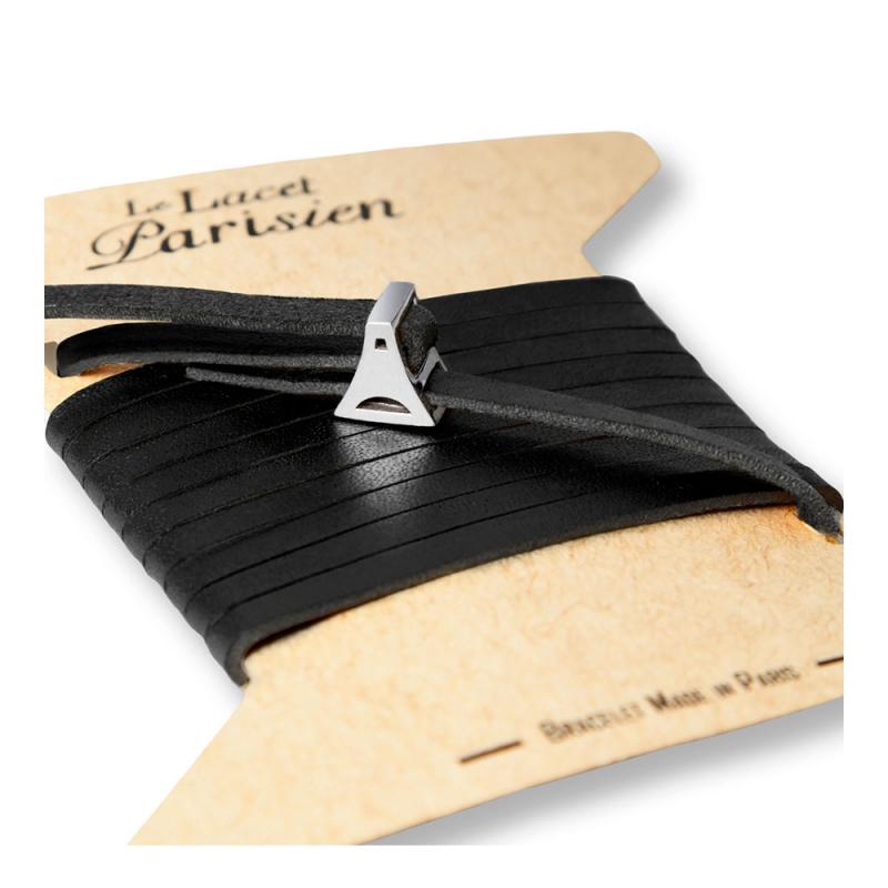 Bracelet Multi Tours Femme en Cuir Noir , Valentine