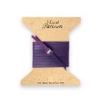 bracelet multi tours cuir et plaque argent le lacet parisien valentine diveene joaillerie bracelet violet