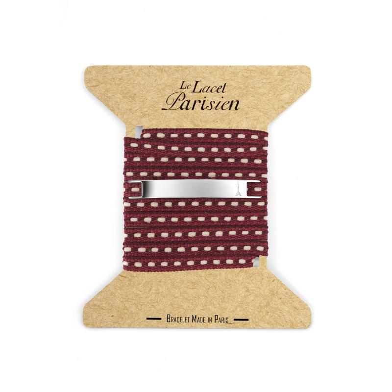 Bracelet Multi Tours Mixte en Coton Bordeaux , Camille