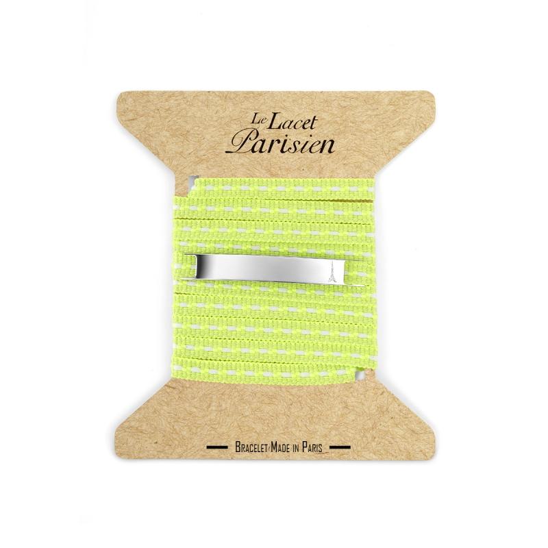 Bracelet Multi Tours Mixte en Coton Vert Anis , Camille