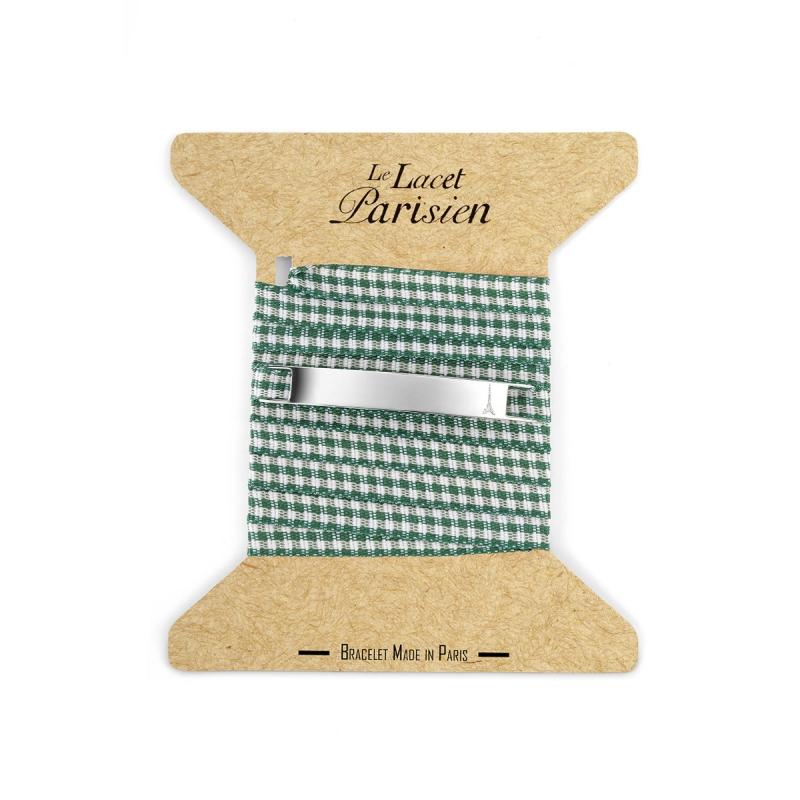 Bracelet Multi Tours Mixte Vichy Vert , Camille