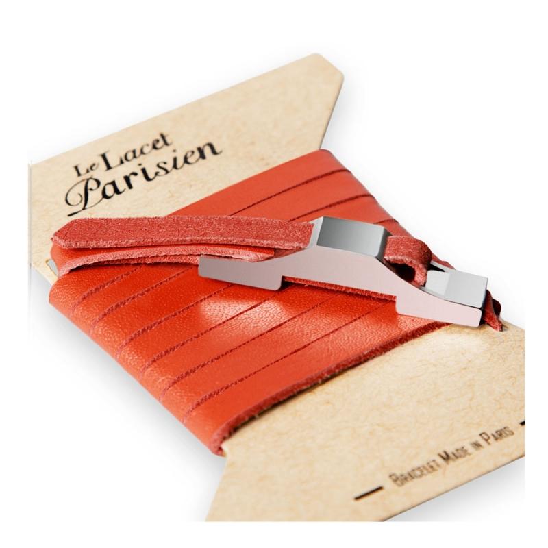 Bracelet Multi Tours Homme en Cuir Rouge , Gustave