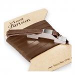 bracelet multi tours cuir et plaque argent le lacet parisien gustave diveene joaillerie bracelet marron