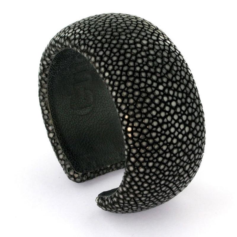 Bracelet en galuchat , Dark Grey 30