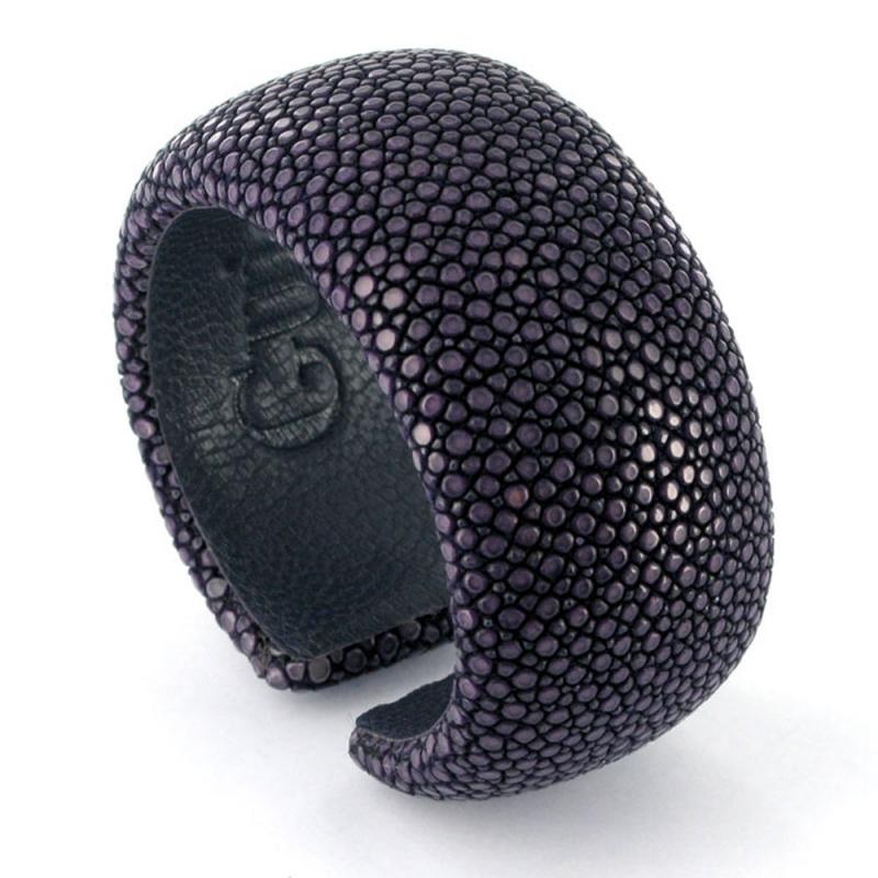 Bracelet en galuchat , Purple 30