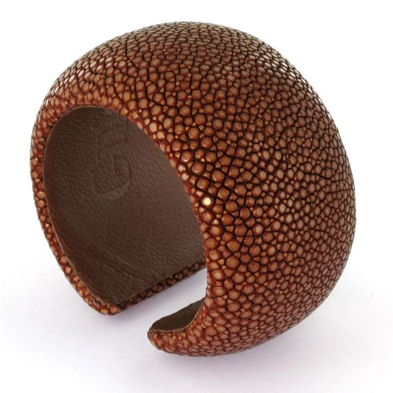 Bracelet en galuchat , Sweet Chocolate 40