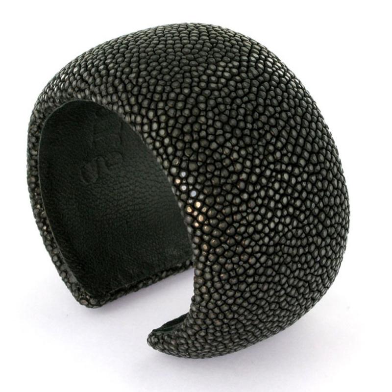 Bracelet en galuchat , Dark Grey 40