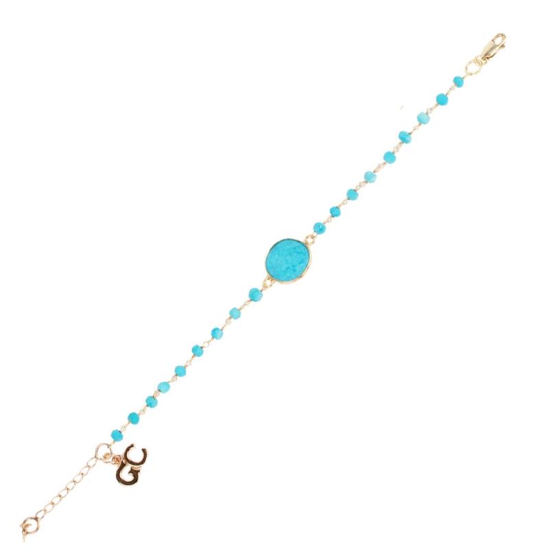 Bracelet Vermeil et Turquoise , Barcelona