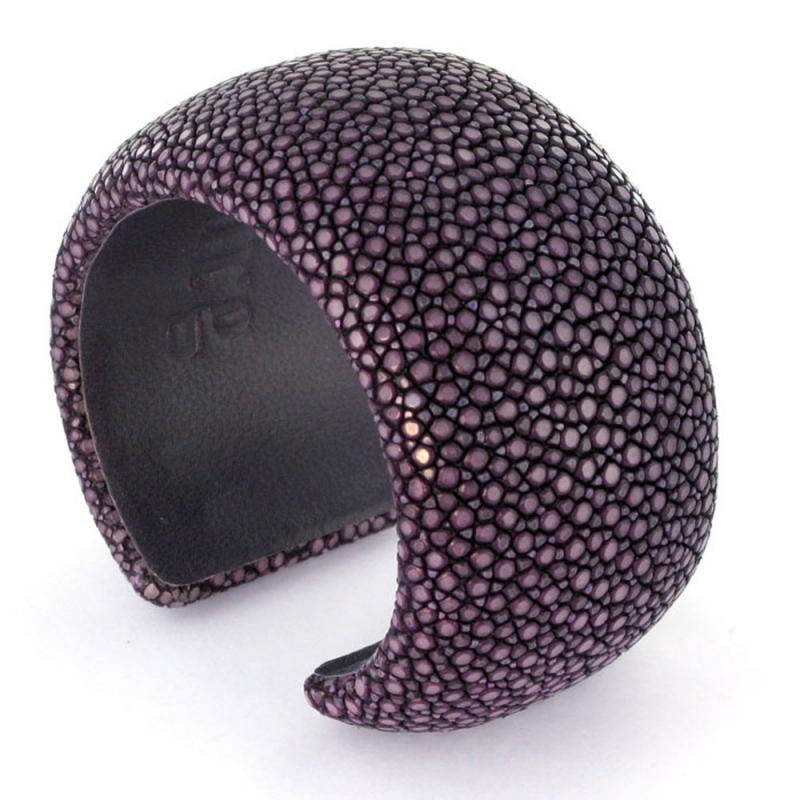 Bracelet en galuchat , Purple 40