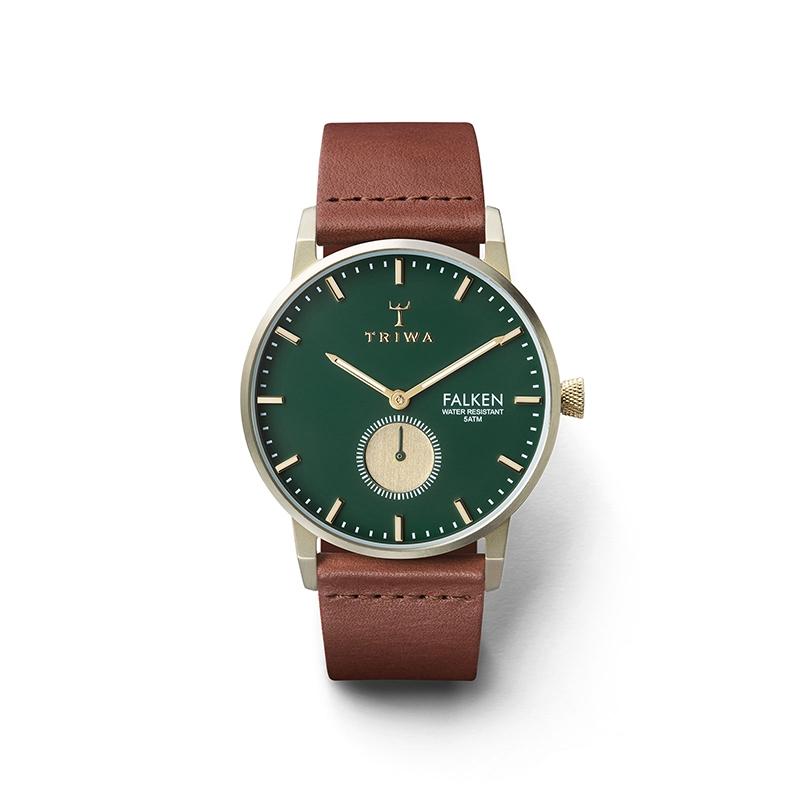Montre Mixte Triwa, Cadran vert et doré Mouvement quartz , Triwa Pine Falken