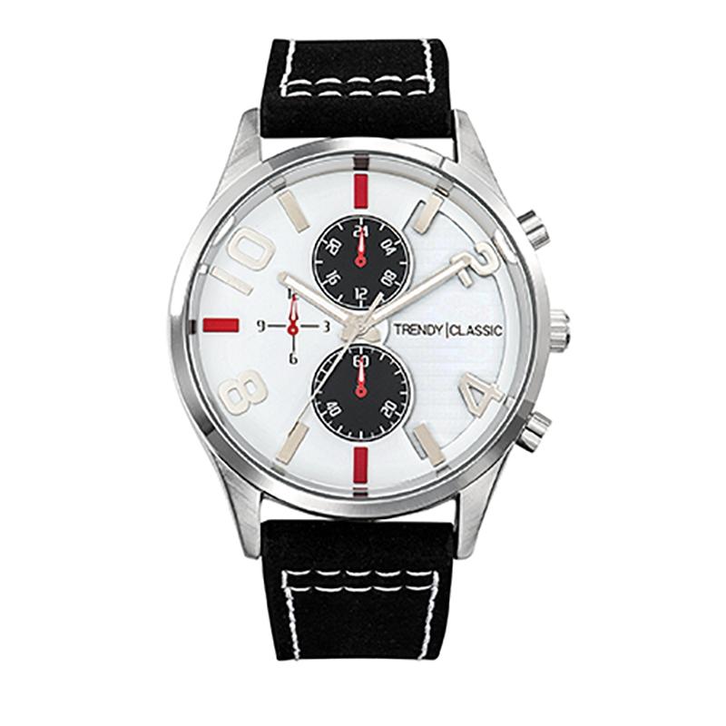 Montre Homme Trendy Classic, Cadran Blanc et Noir , Douglas CC1035-03