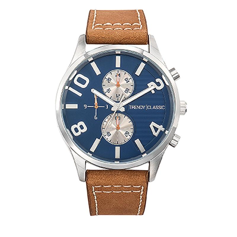 Montre Homme Trendy Classic, Cadran Bleu et Gris , Douglas CC1035-05