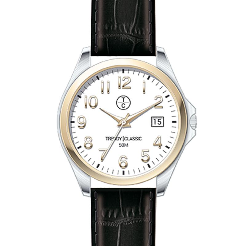 Montre Homme Trendy Classic, Cadran Blanc , Whitley CB1036-31D