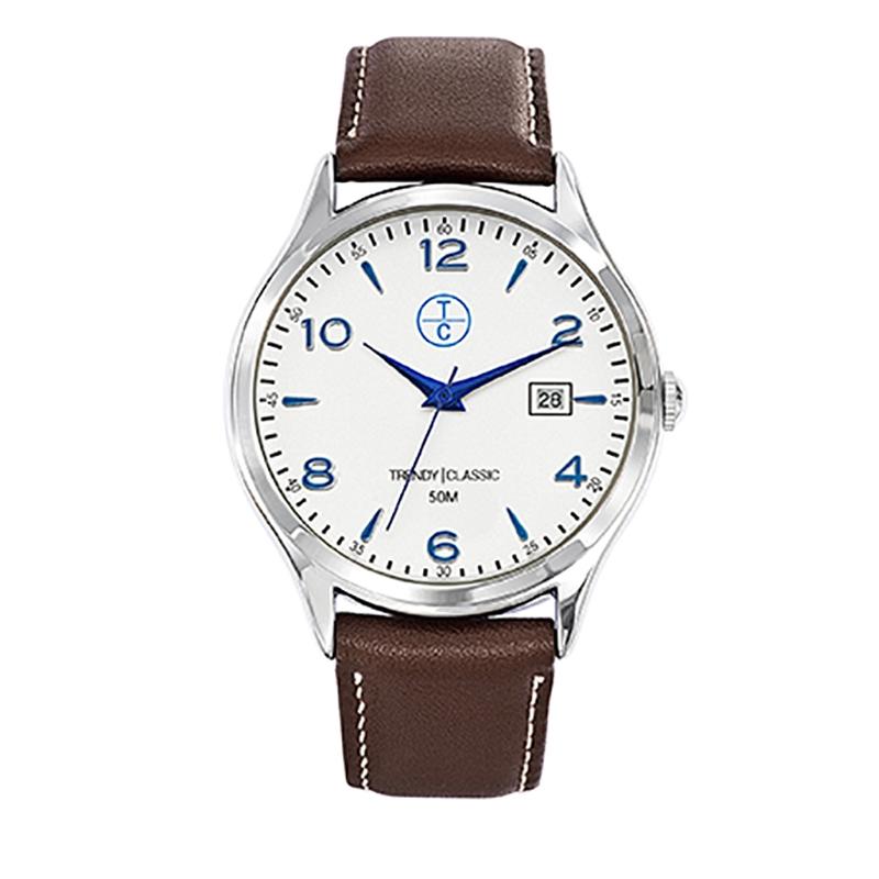Montre Homme Trendy Classic, Cadran Blanc , Albacore CC1001-03D
