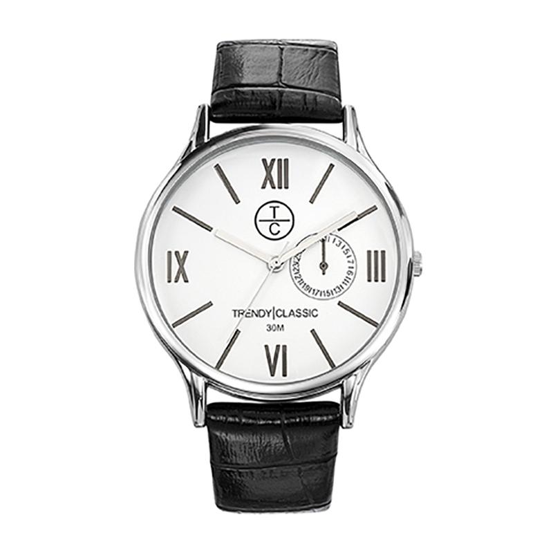 Montre Homme Trendy Classic, Cadran Blanc , Bevedere CC1002-01