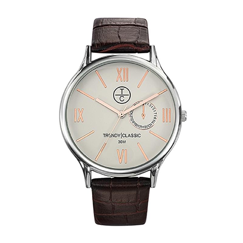 Montre Homme Trendy Classic, Cadran Blanc , Bevedere CC1002-08