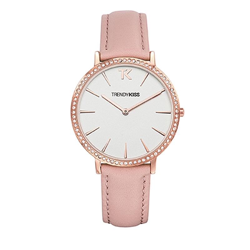 Montre Femme Trendy Kiss, Cadran Blanc Bracelet Rose , Lovisa TG10090-01P