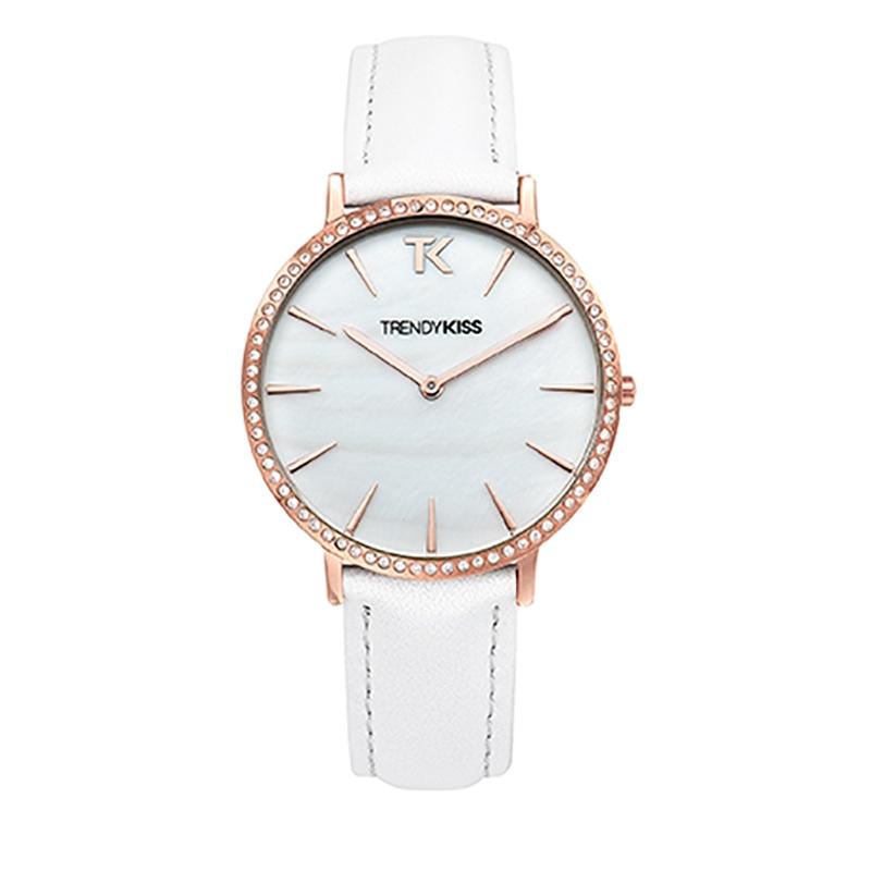 Montre Femme Trendy Kiss, Cadran Blanc Bracelet Blanc , Lovisa TG10090-01W