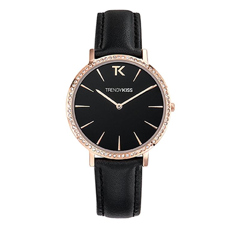 Montre Femme Trendy Kiss, Cadran Noir Bracelet Noir , Lovisa TG10090-02B