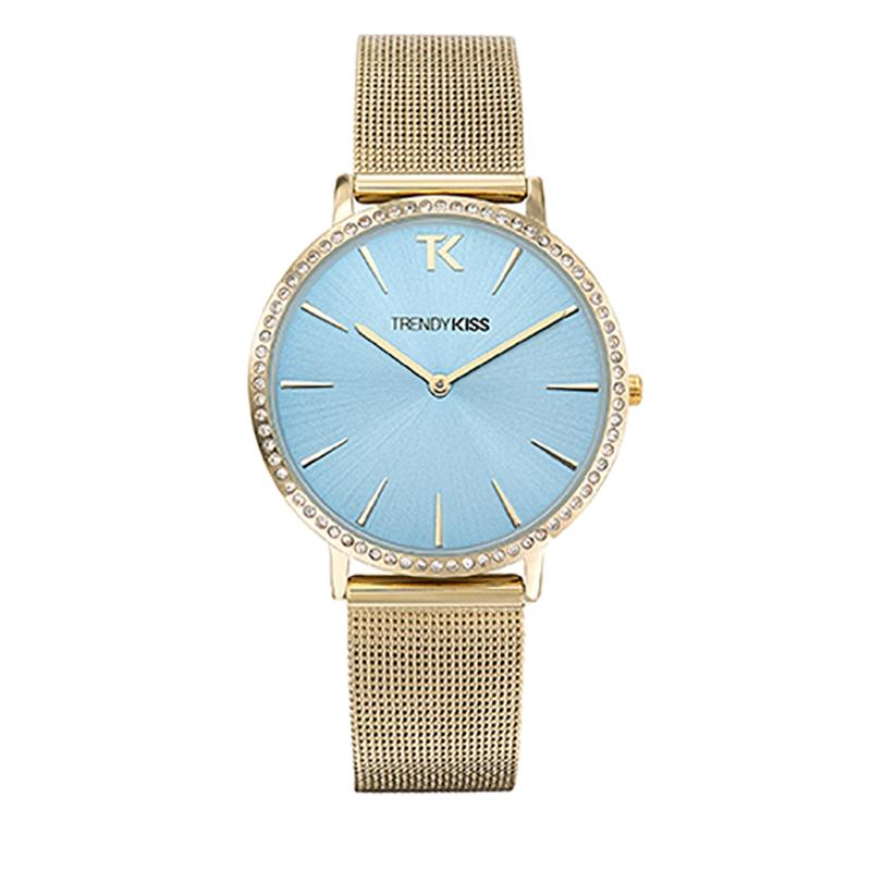 Montre Femme Trendy Kiss, Cadran Bleu Bracelet Maille , Lovisa TMG10090-05