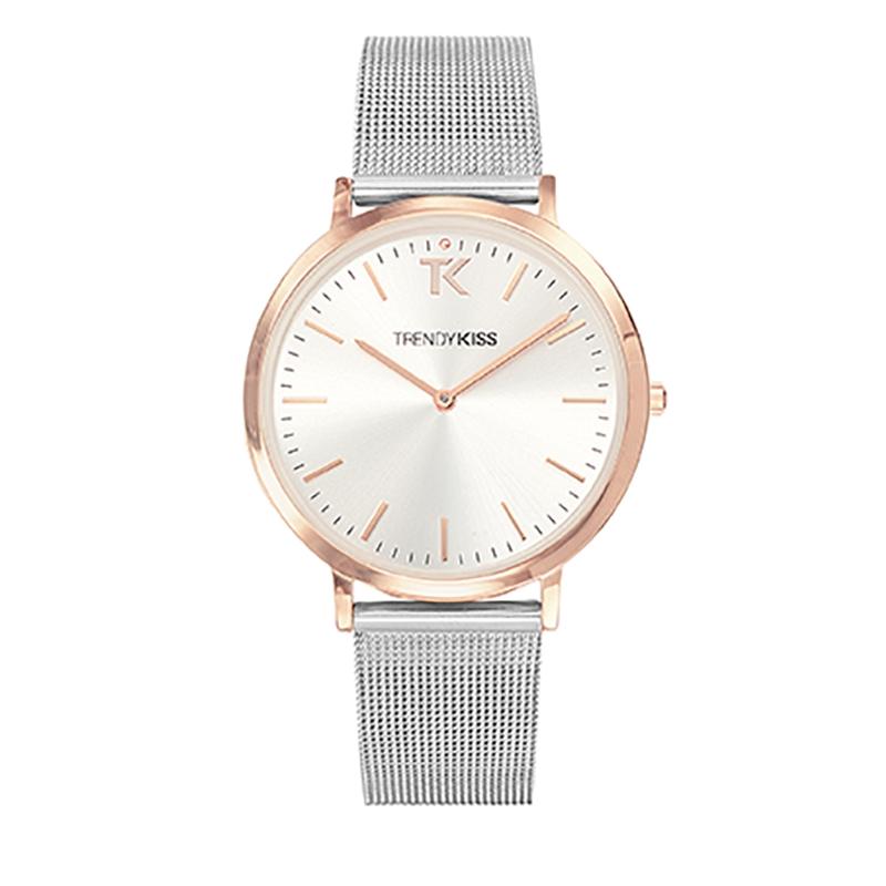 Montre Femme Trendy Kiss, Cadran Blanc Bracelet Maille , Lovisa TMRG10089-31