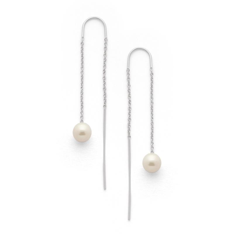 Boucles d'oreilles Argent et Perles Swarovski , Fontana Perles Blanches