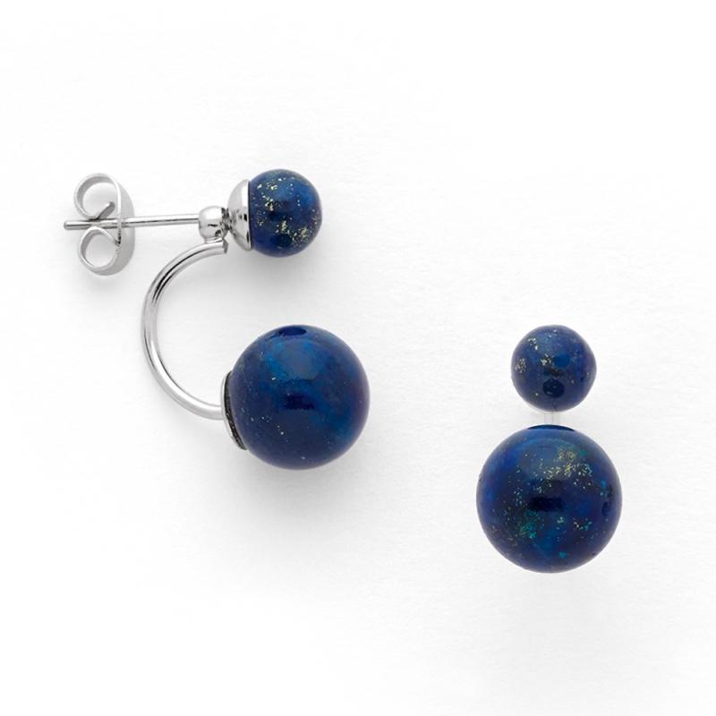 Boucles d'oreilles Argent et Lapis lazuli , Aurora Perles Lapis Lazuli