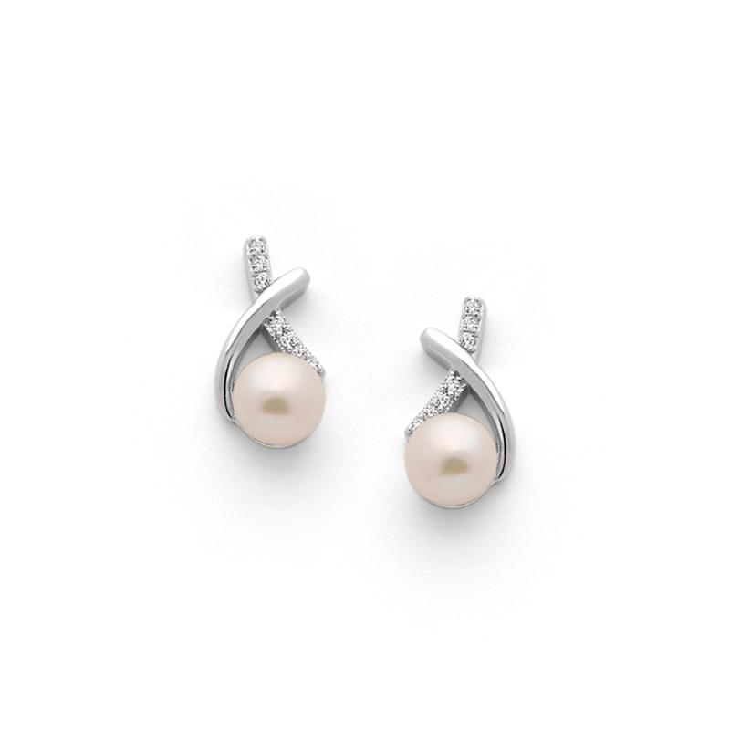Boucles d'oreilles Argent et Perles Swarovski , Leilani