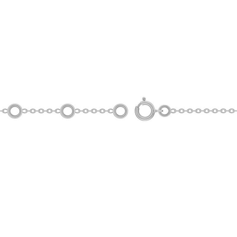 Chaine en Or 9k, Fermoir anneau ressort , Chaine Forçat Limée Or blanc