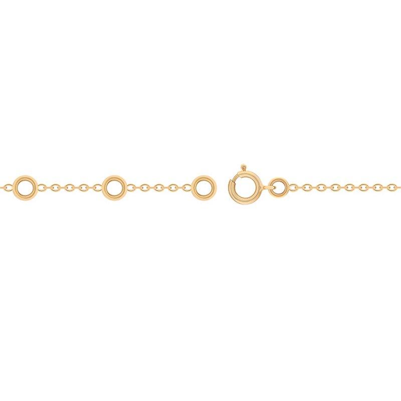 Chaine en Or 9k, Fermoir anneau ressort , Chaine Forçat Limée Or Jaune