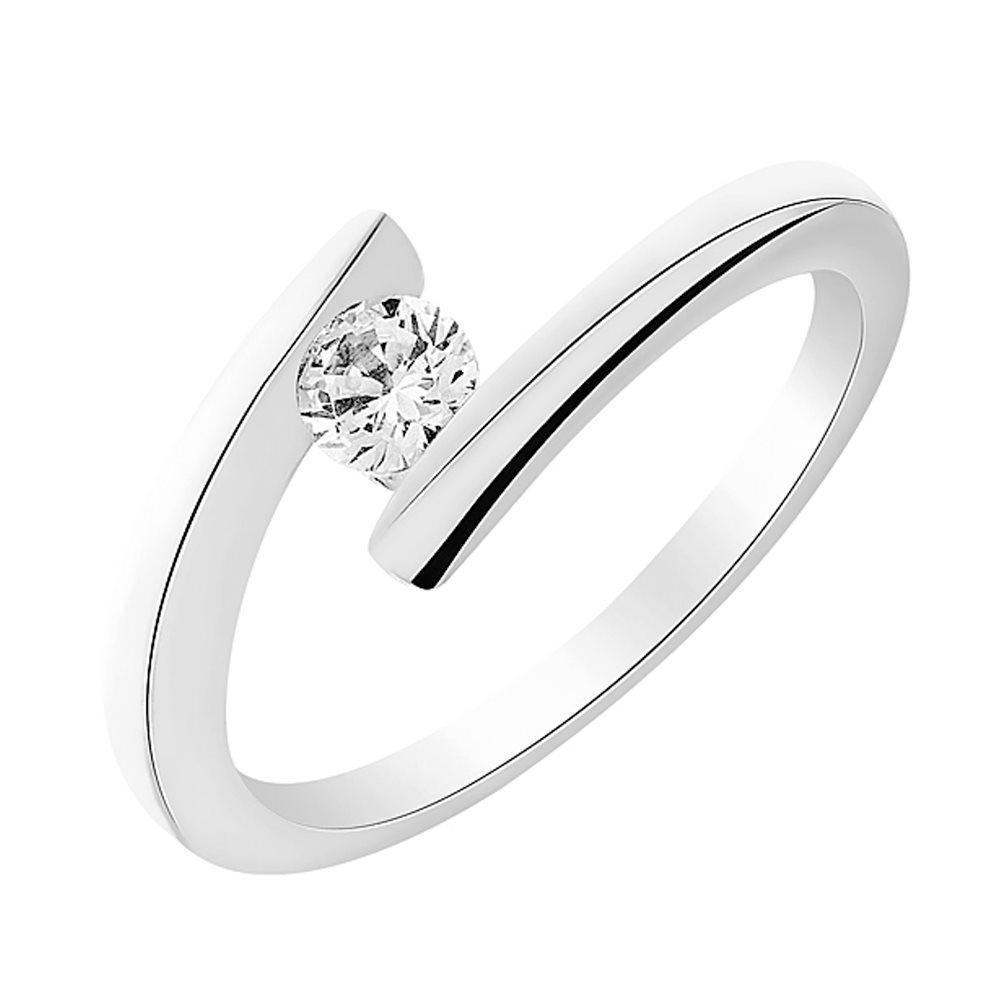 Cosmo Solitaire en or blanc et Diamants Diveene Joaillerie